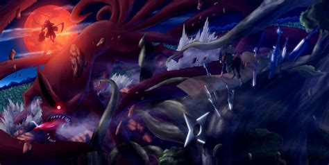 Jaket Cool Anime Hashirama madara and kurama vs hashirama senju wallpaper and