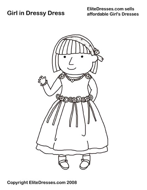 coloring pages girl dress girl s dresses coloring pages that are free and printable