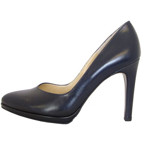Stilleto Shoe kaiser herdi navy leather court shoe mozimo