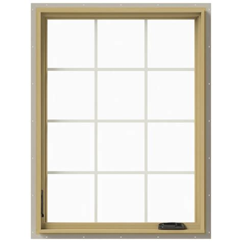 Jeld Wen Aluminum Clad Wood Windows Decor Jeld Wen 36 In X 48 In W 2500 Left Casement Aluminum Clad Wood Window Thdjw140100498