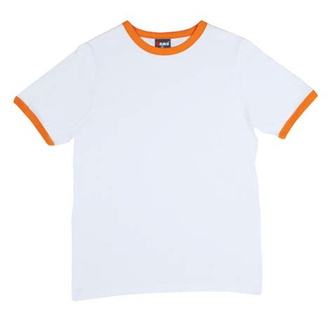 White Shirt With Orange by T525rn