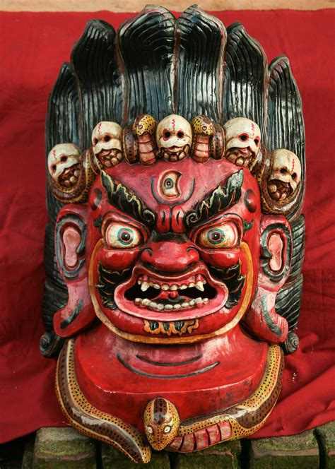 Traditional Home by Tibetan Mask Of Mahakala Traditionalartofnepal Com