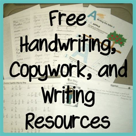 printable paper donna young free handwriting copywork and writing resources