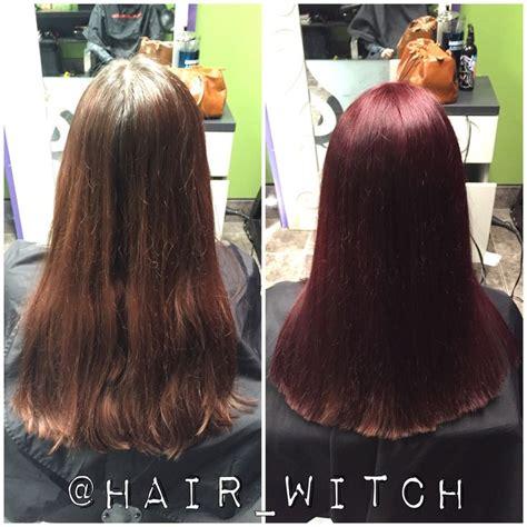Matrix Hair Color Wr 6rv Violet all brighter violet hair color using matrix socolor 4rv and 6rv with 20 volume new