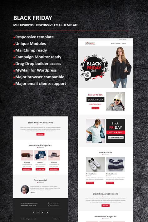 Black Friday Email Newsletter Template 65984 Mailchimp Black Friday Template