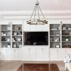 Living Room Bookshelves And Cabinets Gray Shelves In White Living Room Built In Design Ideas