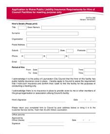 Waiver Template by Liability Waiver Form 11 Free Pdf Documents