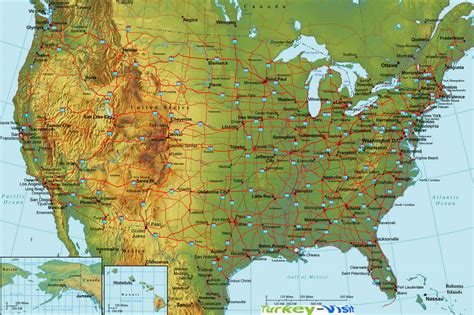 physiographic map of united states united states map