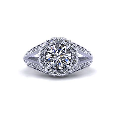 intricate halo engagement ring jewelry designs