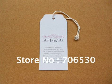 garment swing tags garment tag promotion online shopping for promotional