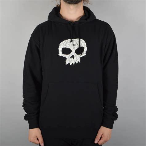 Hoodie Zeroes zero skateboards og single skull pullover hoodie black zero skateboards from skate