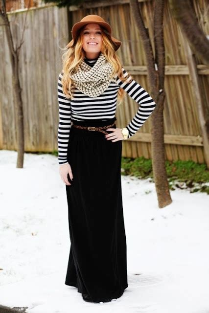 winter maxi skirt my style