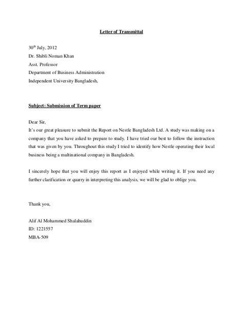 Cover Letter Format Bd Marketing Startegy Of Nestle Bangladesh Ltd