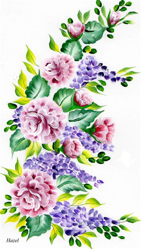 stroke paintingmore roses painted   flower