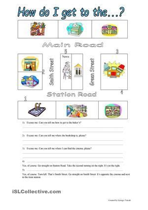 printable activities about giving directions 10 best images about directions in a city on pinterest