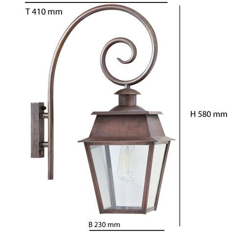 Historic Outdoor Lighting Historical Wall Lantern Bordeaux Mm With Crozier Bracket Terra Lumi