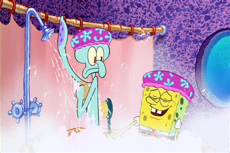 squidward bathtub spongebob what are you doing in here sound clip and