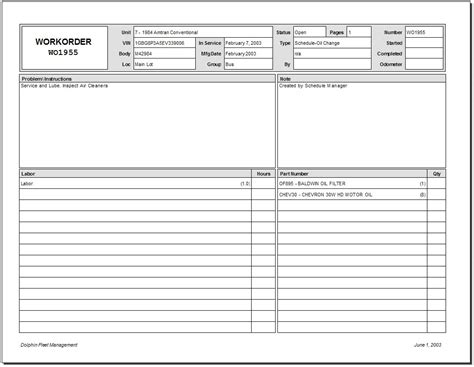 Maintenance Work Order Template Excel by 5 Work Order Templates Formats Exles In Word Excel