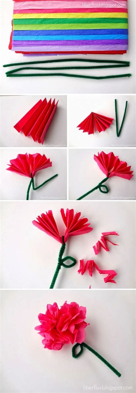 How To Make Tissue Paper Crafts - 25 best ideas about paper flowers craft on