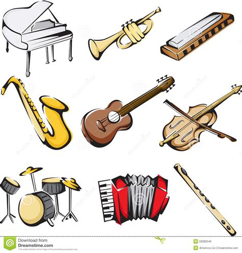 imagenes de instrumentos musicales que tengan cuerdas musical instruments icons stock vector illustration of