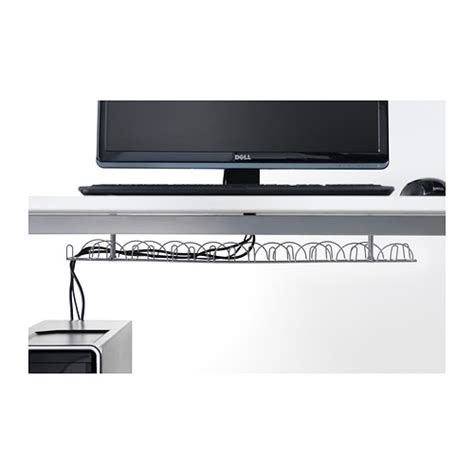 besta cable management signum cable trunking horizontal silver colour 70 cm ikea