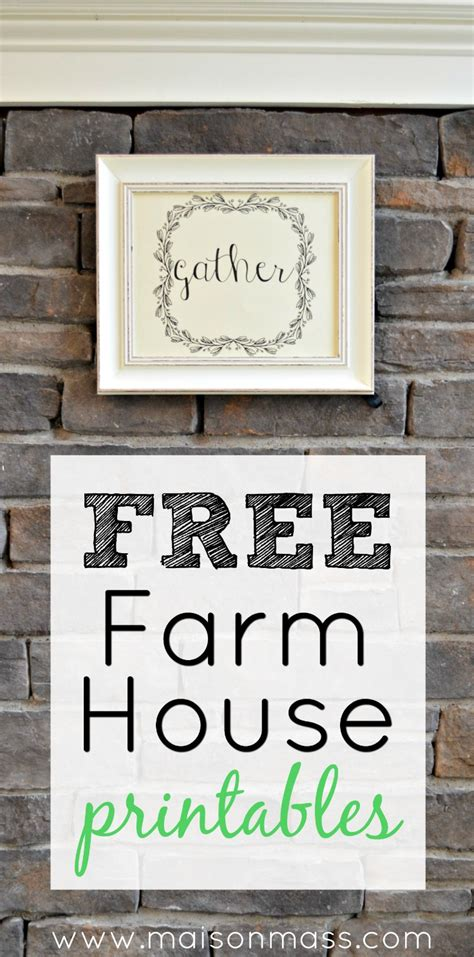 farmhouse printables maison mass