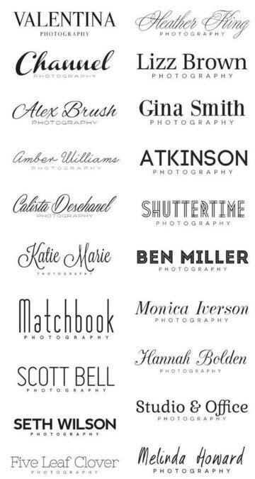 Elegir las fuentes de letras para logos una tarea