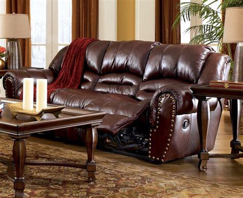 Ashleys Furniture Colton by Leather Colton Burgundy Reclining Sofa Loveseat Ebay