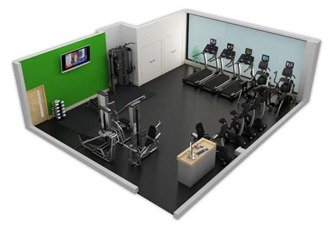 Gym Layout sample fitness facility 1 cybex
