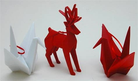 Origami Origins - season craft ideas origami paper ornaments