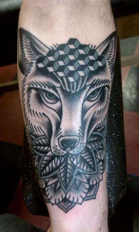 lucky monkey tattoo wolf by lucky monkey s steve flores yelp