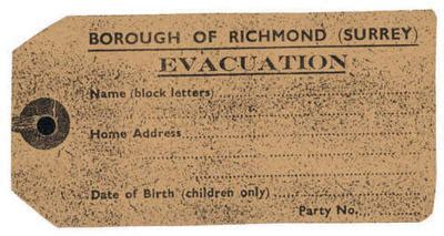 World War 2 Evacuee Label Template evacuee