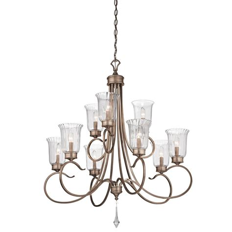 Brushed Gold Chandelier Kichler Nine Light Brushed Silver Gold Up Chandelier 43240brsg
