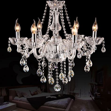 bedroom crystal chandelier 6 arms k9 crystal chandelier european candle crystal