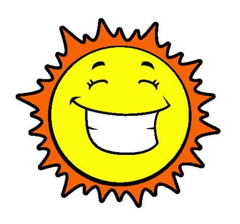 imagenes infantiles sol dibujo de sol sonriendo pintado por stephanie en dibujos