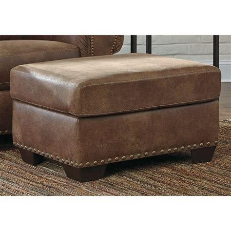ashley leather ottoman ashley burnsville faux leather ottoman in espresso 9720614