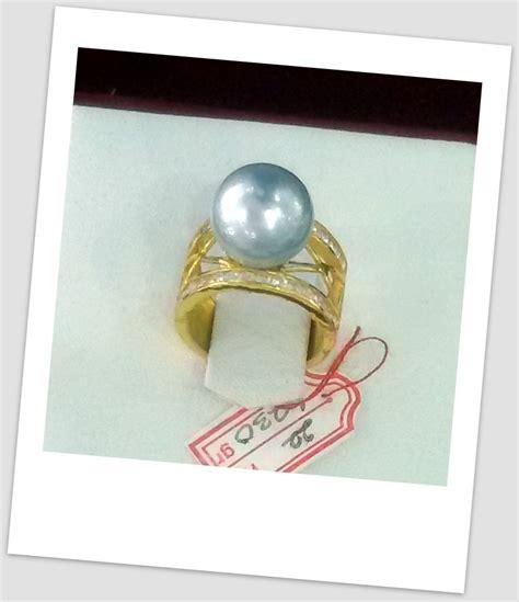 Mutiara Asli Lombok Flower Ring handmade gold ring with south sea pearl ctr 059 harga mutiara lombok perhiasan toko emas