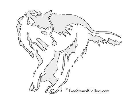 wolf stencil 03 free stencil gallery