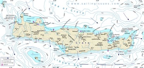 sailing maps greece crete maps for sailing holidays and yacht charters in crete