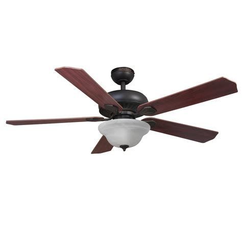 ceiling fans with remote and light lowes shop harbor crosswinds 52 in rubbed bronze