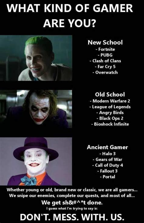 gamer memes what of gamer are you gamer joker your meme