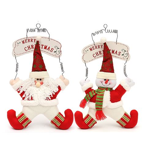 santa clause decoration decoration welcome snowman santa claus door