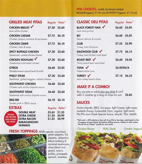 pita pit menu menu for pita pit burlington toronto