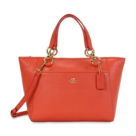 Coach Pabbled Leather Tote coach mini ellis pebbled leather tote light gold