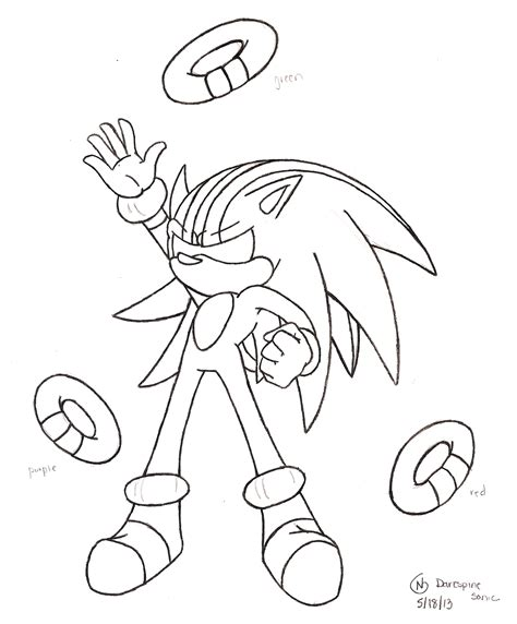 darkspine sonic coloring pages coloring pages