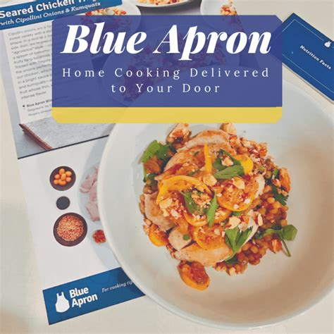 home cooking delivered to your door with blue apron meal