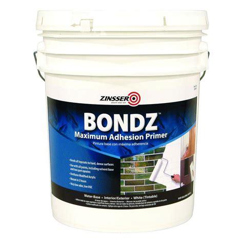 home depot zinsser ceiling paint zinsser 5 gal bondz primer 256260 the home depot