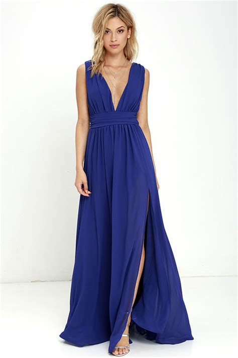 Gaun Diana Blue Maxi royal blue gown maxi dress homecoming dress 84 00