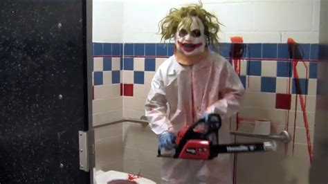prank in bathroom chainsaw scare prank youtube