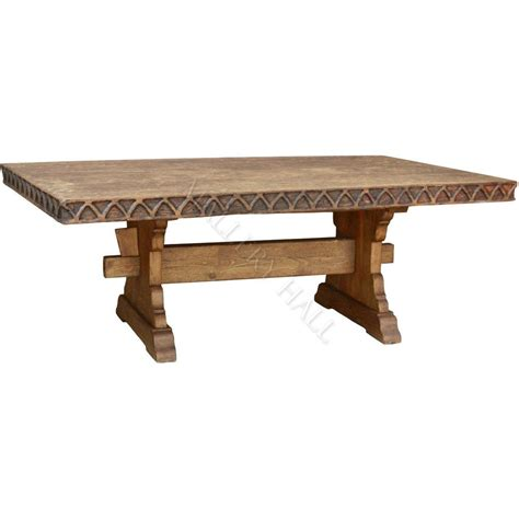 Carved Wood Pedestal Table Bases solid wood carved trim trestle large pedestal base dining table ebay